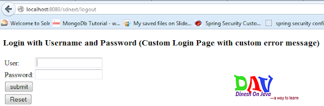 Spring Security Logout