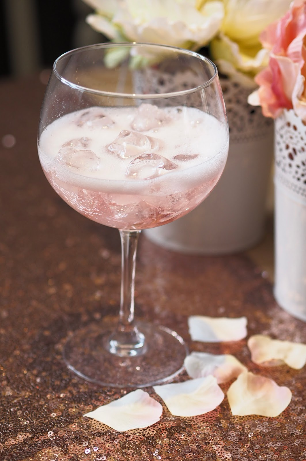 Pink Cocktail in glass