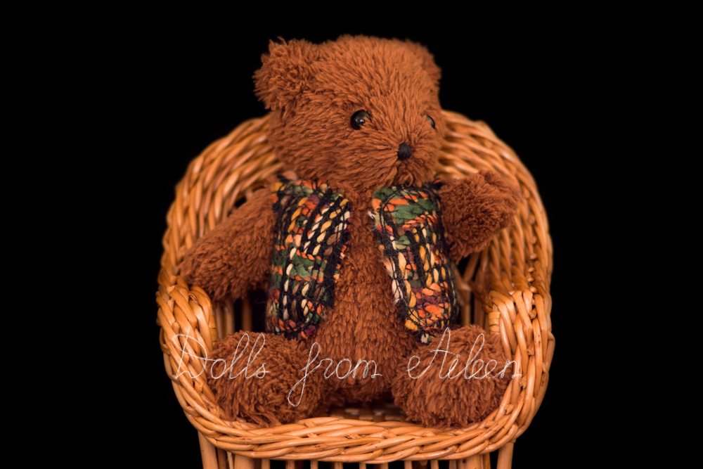 OOAK artist teddy bear sitting in chair