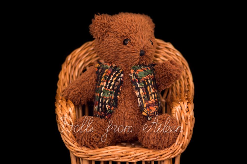 OOAK artist teddy bear sitting in chair