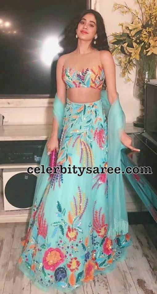 Sridevi Daughter Jahnavi in Designer Lehenga