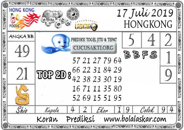 Prediksi Togel HONGKONG LASKAR4D 17 JULI 2019