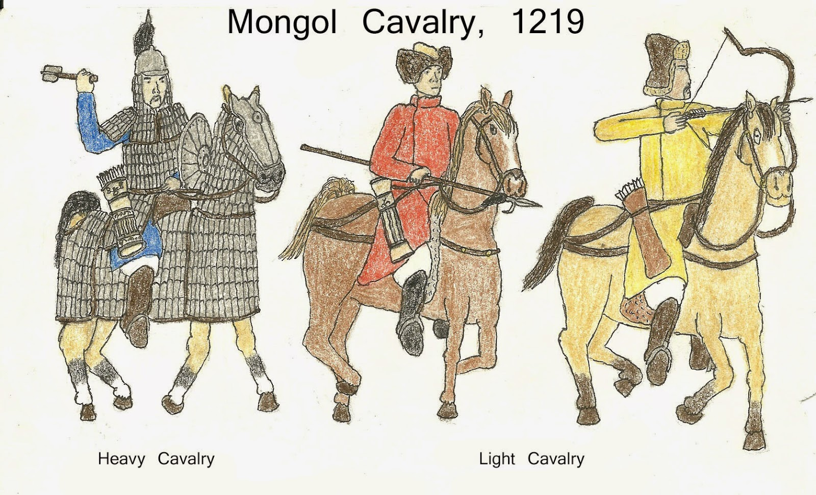 Robert Fisher Historical Art Blog Mongol Cavalry
