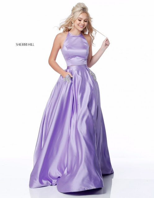 8d510f0a78e 2018 Sherri Hill 51587 Lilac Evening Dresses