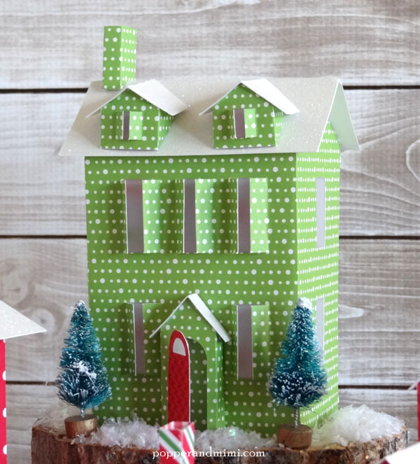 Tea-Light-Christmas-Village-gabled-two-story-house-Popper-Mimi House Dormer Designs Paper on windows styles, early cape cod, how build, single story,