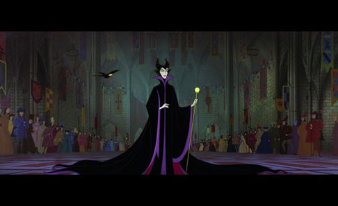 Maleficent in all her glory in Sleeping Beauty 1959 movieloversreviews.blogspot.com