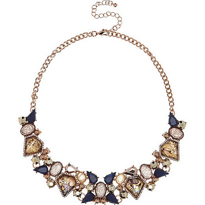 River Island Gold Bib necklace jewellery blog