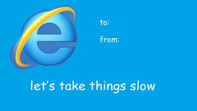funny valentine cards, funny valentine ecard internet, lets take things slow valentine