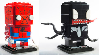 San Diego Comic-Con 2017 Exclusive Spider-Man & Venom BrickHeadz Set by LEGO x Marvel