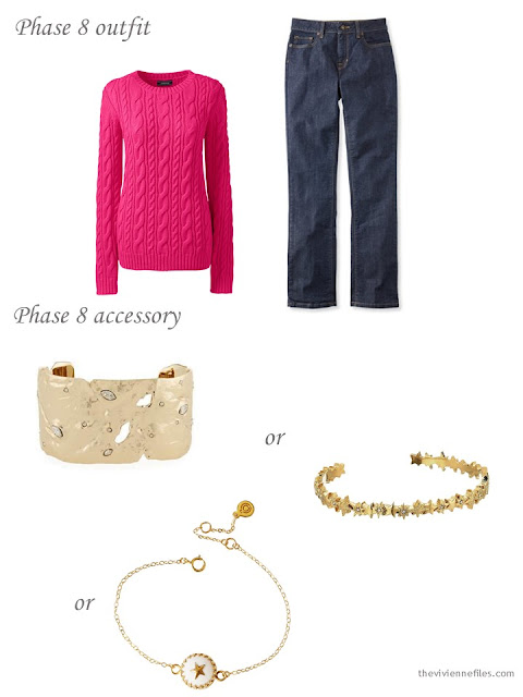 adding a star bracelet to a capsule wardrobe