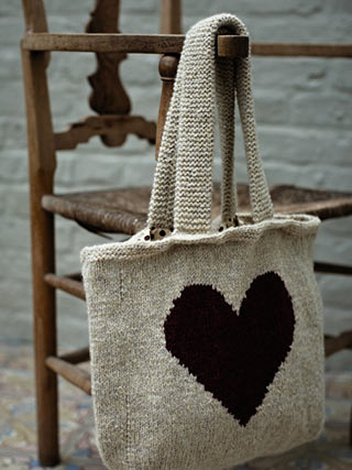 Bolsa hecha con un corazón