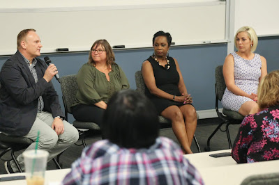 Photo of panelists at Insurance/Risk Management Career Night