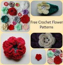 Free crochet flower patterns, crochet flower patterns, easy flower patterns