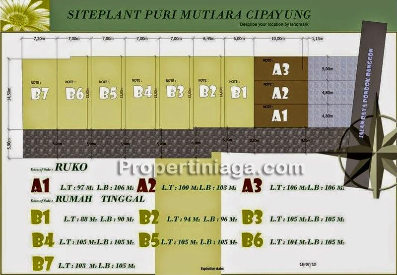 Siteplan-Puri-Mutiara-Cipayung