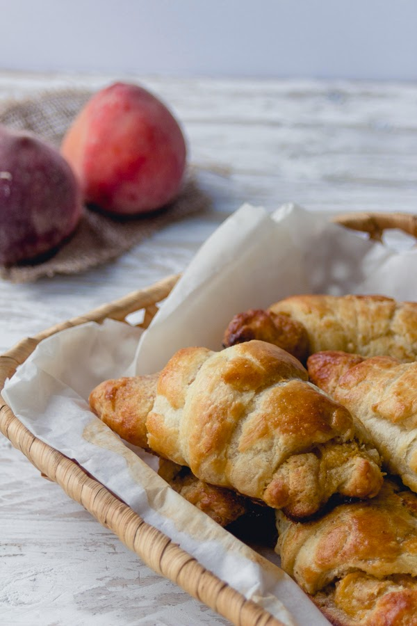 croissants with frangipane and peaches puff pastry recipe step by step