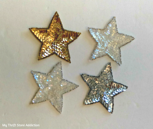 sequined star appliques