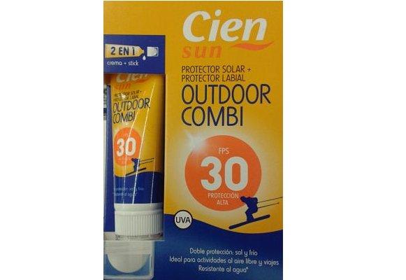 Crema labial de proteccion solar Cien