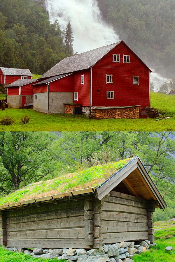 Casas de madera en plena naturaleza de Noruega. Foto Rodrigo L. alonso.