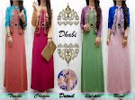 Gamis Spandex Cardi Glitter Bordir SOLD OUT