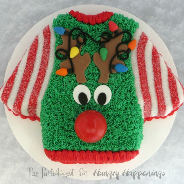 The Partiologist Ugly Christmas Sweater Cake