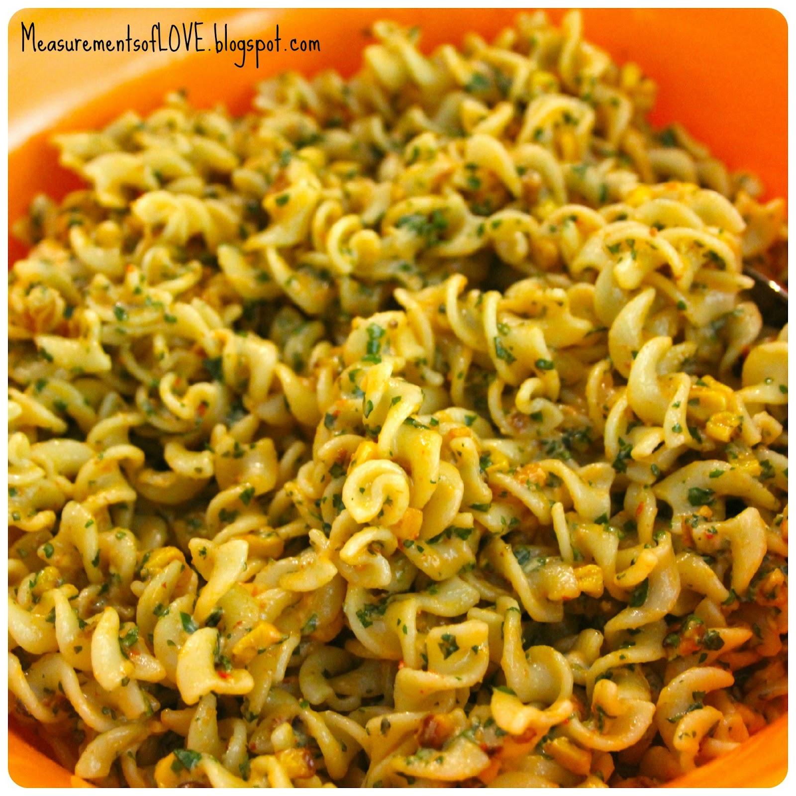 Measurements of Merriment: Roasted Corn Pasta Salad