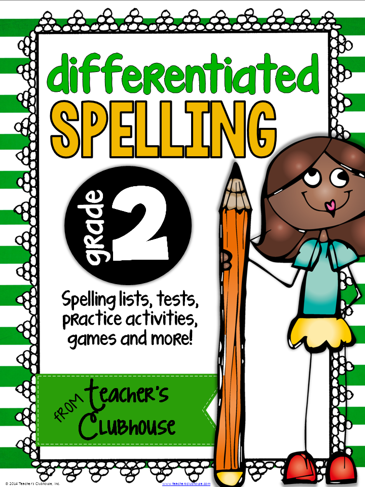 //www.teacherspayteachers.com/Product/Differentiated-Spelling-for-2nd-Grade-1366944