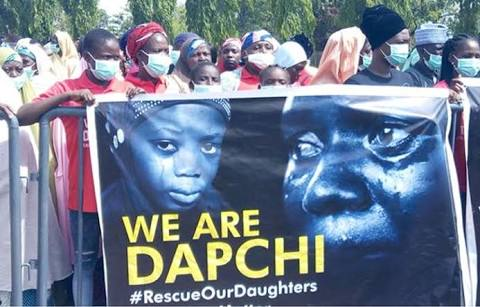 BREAKING: Boko Haram Releases All Dapchi Schoolgirls... keeps one for refusing to become a Muslim