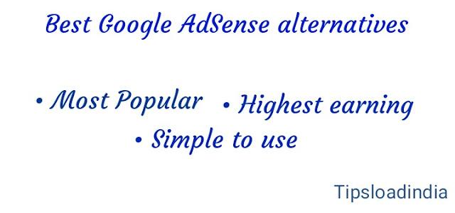 Google AdSense alternative, AdSense, options