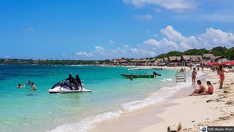 Jet Sky na Playa Blanca: caribe colombiano em Cartagena