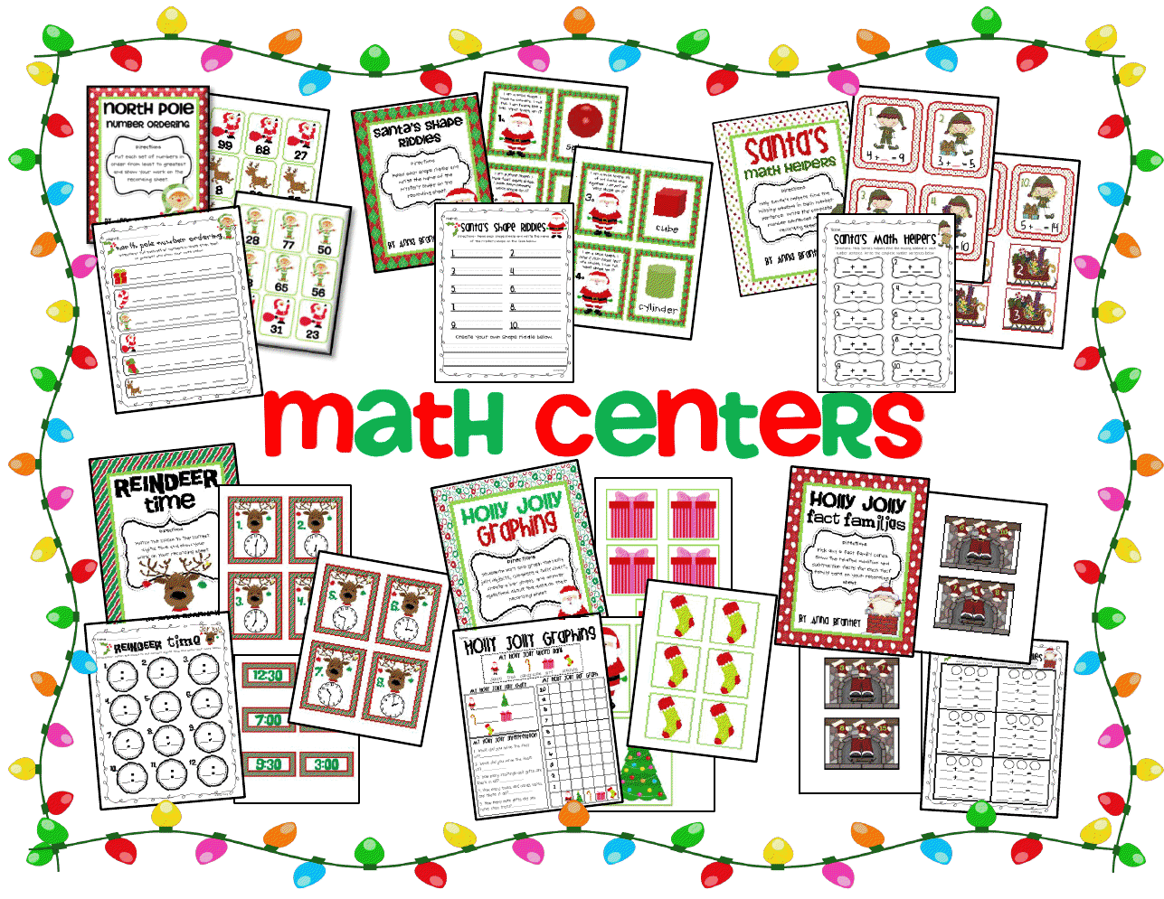 Crazy For First Grade Holly Jolly Centers Amp Winter Math