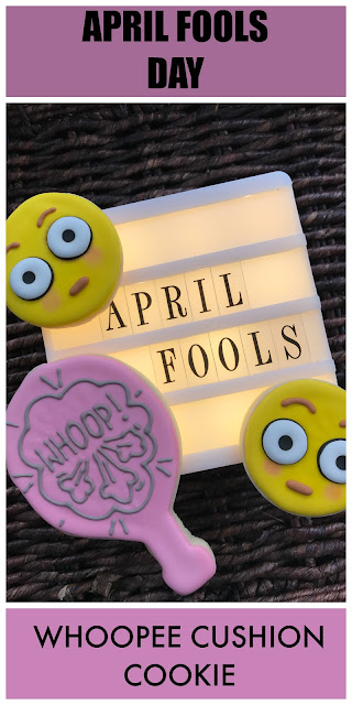 april fools day whoopee cushion cookie