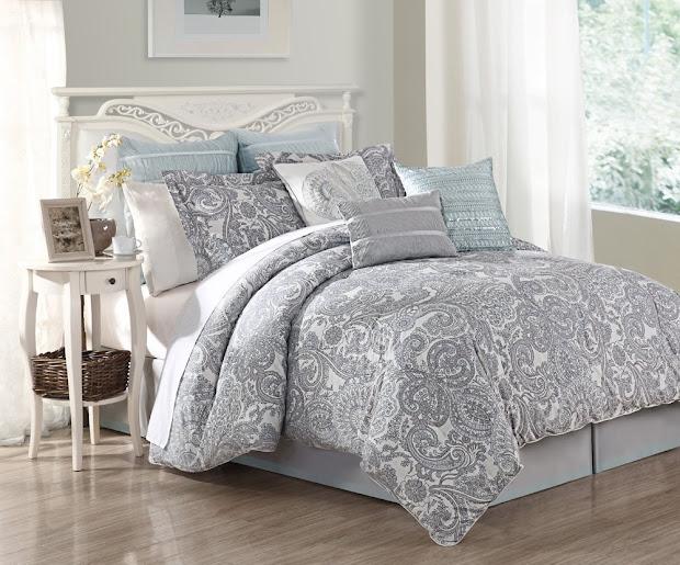 Light Blue Comforter Set Queen