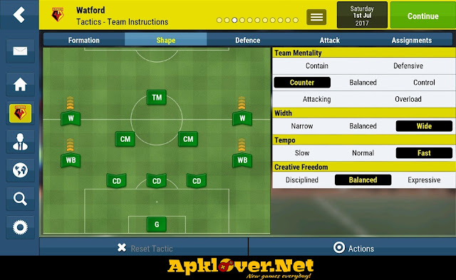 Football Manager Mobile 2018 MOD APK full patched