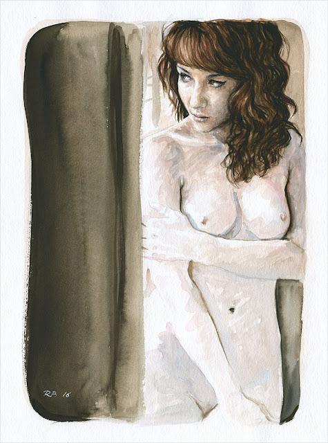 René Bui - Etude de nu à l'aquarelle #160189 - 24cm x 32cm - 2016