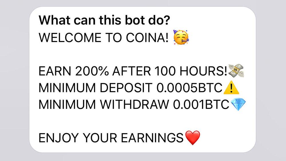 Инвестиционные планы Coina1bot
