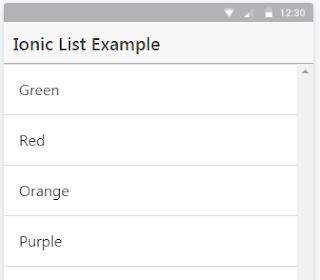 Ionic List