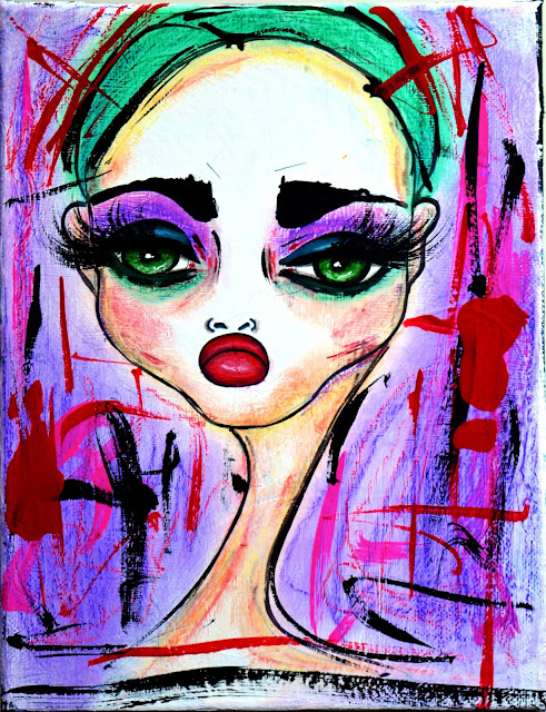 Bebee Pino art acrylics on canvas