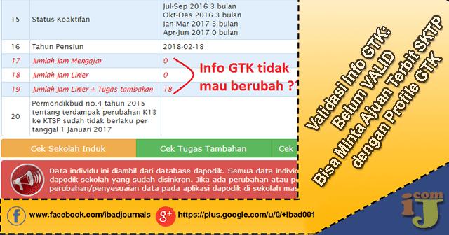 Cara Minta Ajuan Terbit SKTP dengan Profile GTK Untuk Info GTK yang Bermasalah