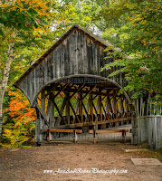 Sunday River covered Bridge historic Maine Attraction Artists Bridge