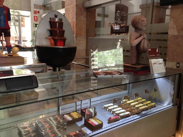 Loja do Museu da Xocolata em Barcelona