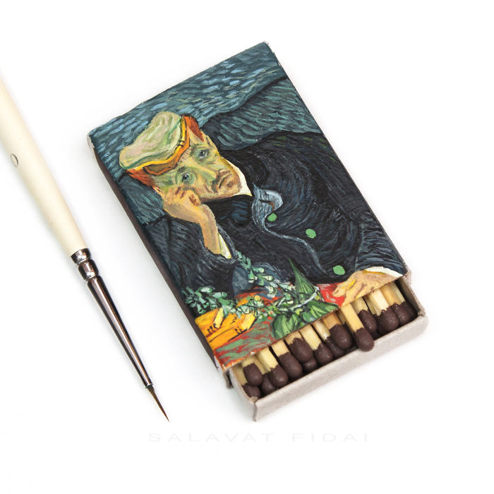 07-Portrait-of-Dr-Gachet-Vincent-Van-Gogh-Salavat-Fidai-Салават-Фидаи-Miniature-Paintings-on-Matchboxes-and-Pumpkin-Seeds-www-designstack-co