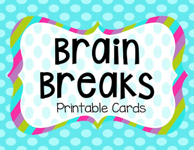 picture relating to Break Cards for Students Printable named Thoughts BREAKS! TheHappyTeacher