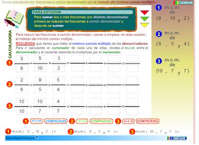 http://www.eltanquematematico.es/todo_mate/fracciones_e/ejercicios/suma_mcm_p.html