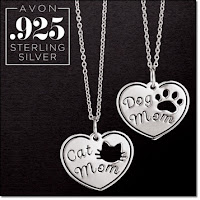 Avon Sterling Silver Pet Mom Necklace