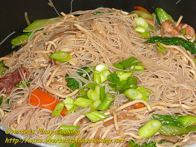 Seafood Mixed Pansit Guisado - Cooking Procedure