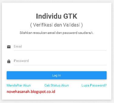 formulir untuk login, cek status akun, dan jika kita lupa password di gtkedit.data.kemdikbud.go.id