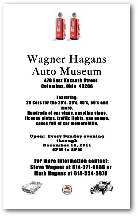 Schumacher Place: Wagner Hagans Auto Museum in Schumacher