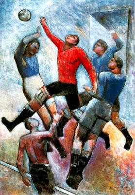 calcio nell'arte futurista: «Partita di calcio» di Carlo Carrà