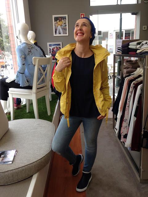 look shanna boutique, parka amarela da vero moda