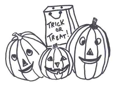 Flower Coloring Pages: Halloween Pumpkin Coloring